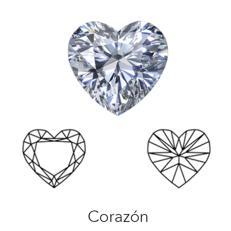 heart cut display of LONITÉ cremation diamonds from hair or cremation ashes