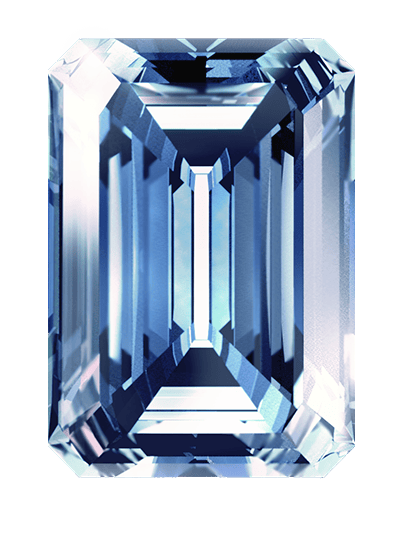 blue color cremation diamonds